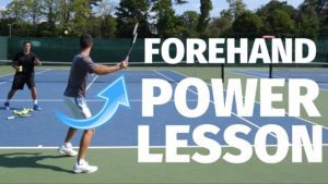 Tennis Forehand Lesson - Simple Forehand Power Trick