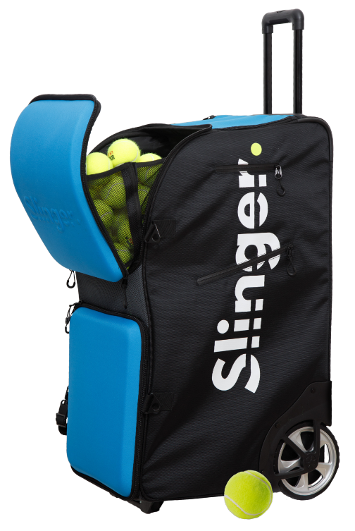 Slinger Bag Tennis Ball Machine Play Test And Review Top Tennis Training